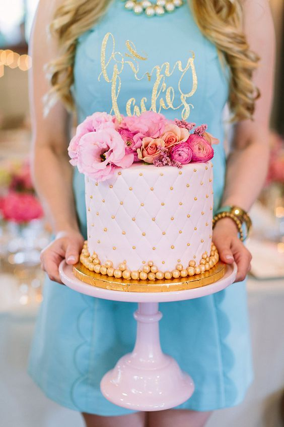 bridal shower cake idea gold and white cake bridal shower ideas pure luxe bride
