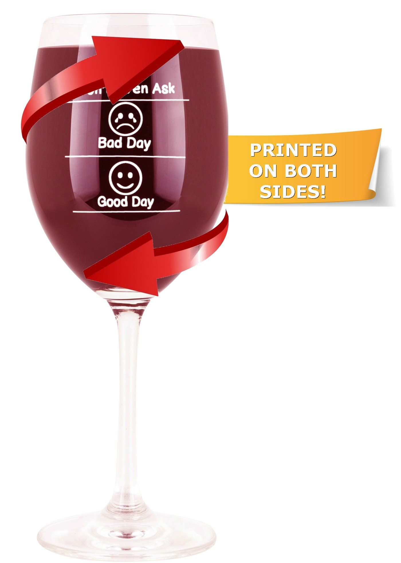 Whimsical Gift World Funny Wine Glass 19 Oz With Emoji Faces Dona T Even Ask Good Day Bad Day Novelty Gag Funny Wine Glass Fun Wine Glasses Wine Celebration