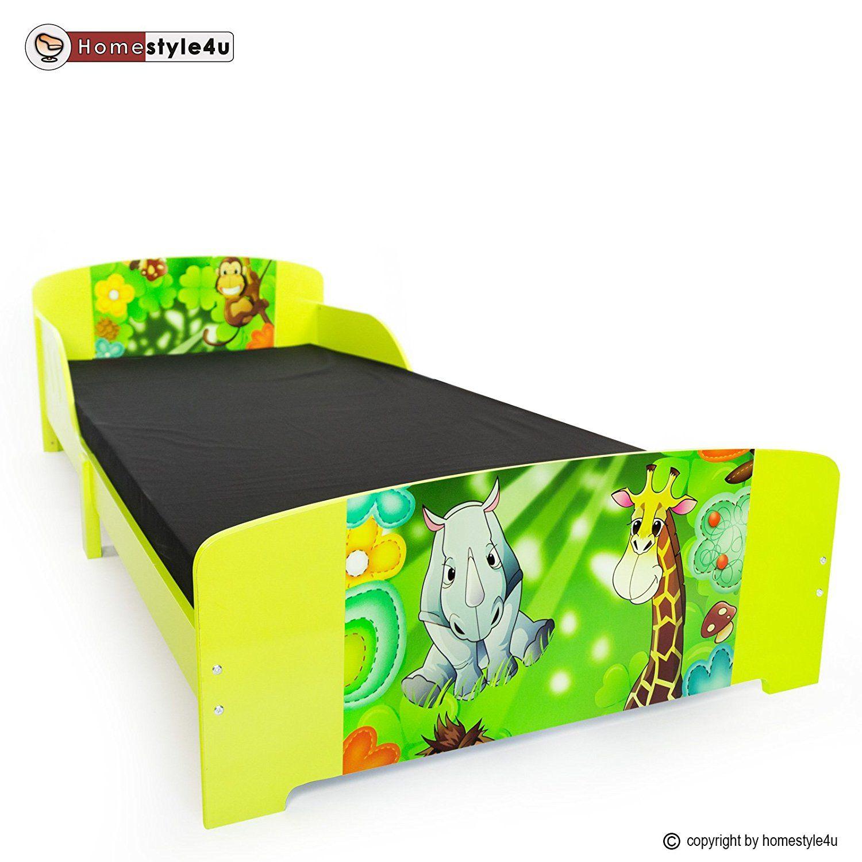 Kinderbett für ein Dschungelzimmer | Bett mit Dschungel Motiv ...