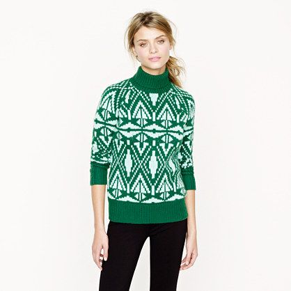 J.Crew Collection c- ashmere Fair Isle turtleneck sweater. I ...