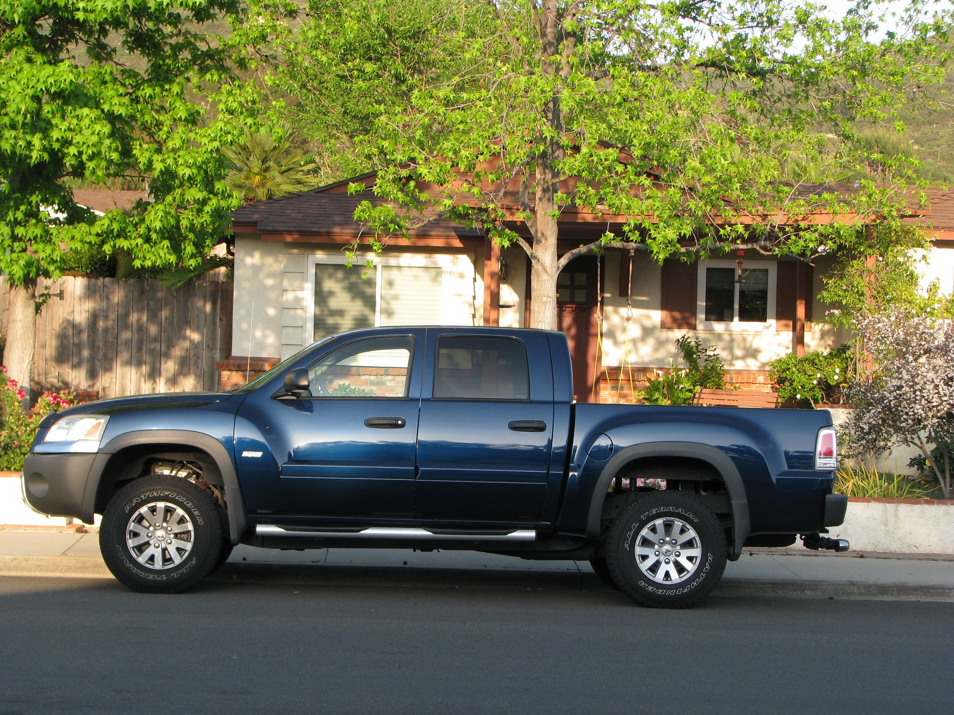 The muscular mitsubishi raider extended cab