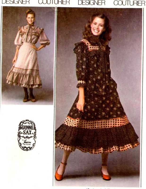 Simplicity 8728 Gunnesax ~ really cute Midi-length Country / Western style