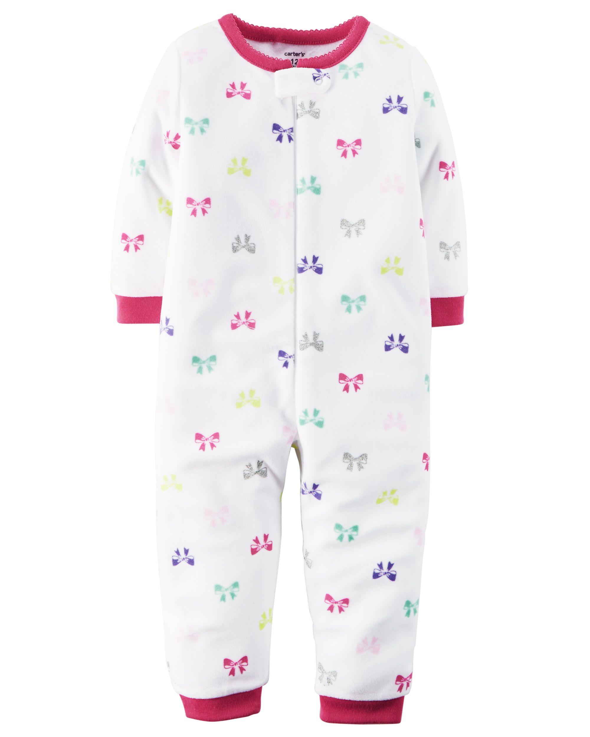 1-Piece Footless Fleece PJs | Carter\'s | Pinterest | Baby, Infant ...