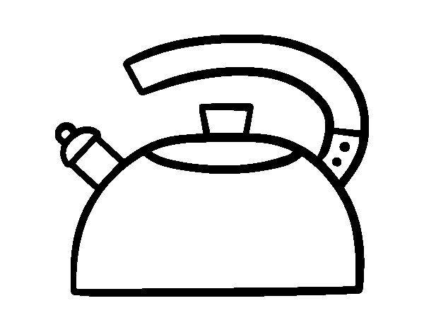 Dibujo De Tetera Silbante Para Colorear Dibujos Net Dibujos De Cocineras Teteras Dibujo Figuras Para Colorear