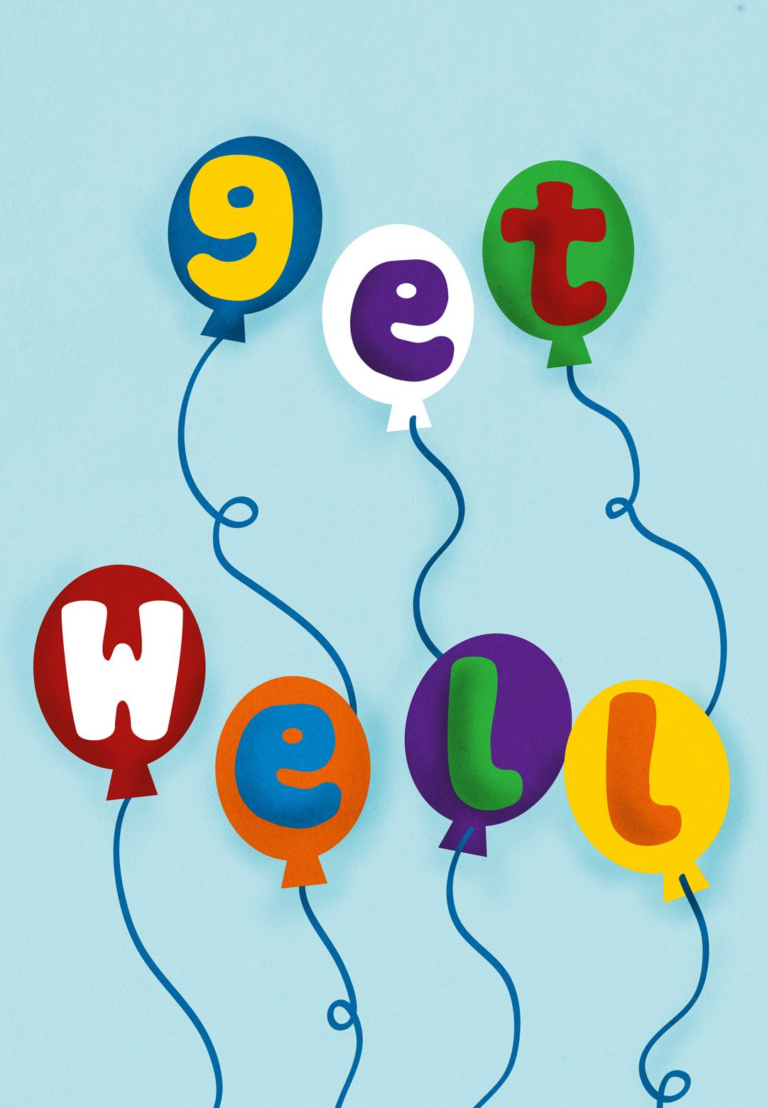 Free printable balloons get well card get well cards