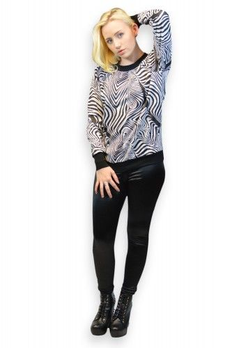 We have brought safari fun for you. Make your wardrobe wild with this chunky zebra print knit. Team it with one of glamorous Jeans.
