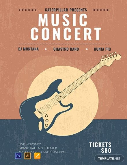 Free Live Music Concert Poster Template in 2020 | Music ...
