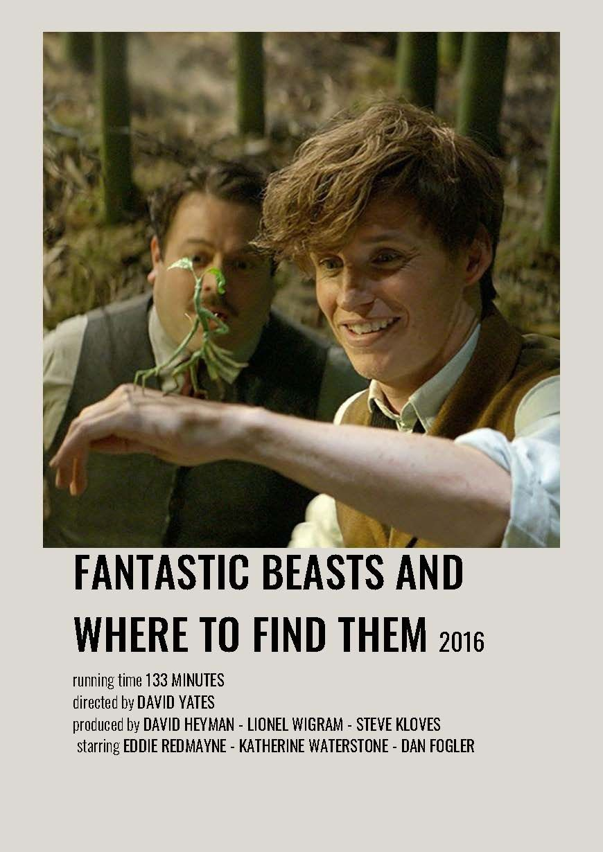 fantastic beasts and where to find them minimalist polaroid movie poster