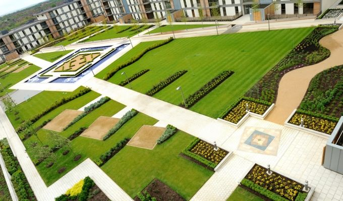 Pin by kent fallon on apartment landscape pinterest commercial commercial landscaping milton keynes roof gardens green roofs garden planning case study surgery garden design roof terraces workwithnaturefo