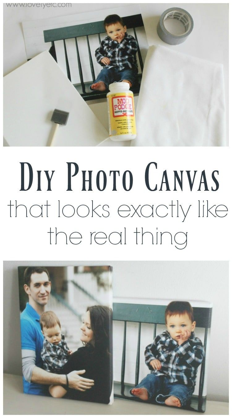 Diy photo canvas that looks exactly like the real thing grsusie