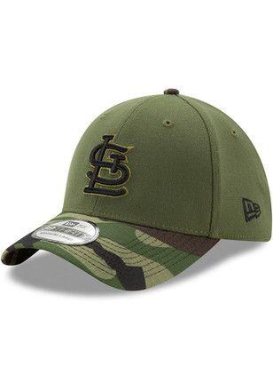 ddc555a9df4 New Era St Louis Cardinals Mens Green 2017 Memorial Day 39THIRTY Flex Hat