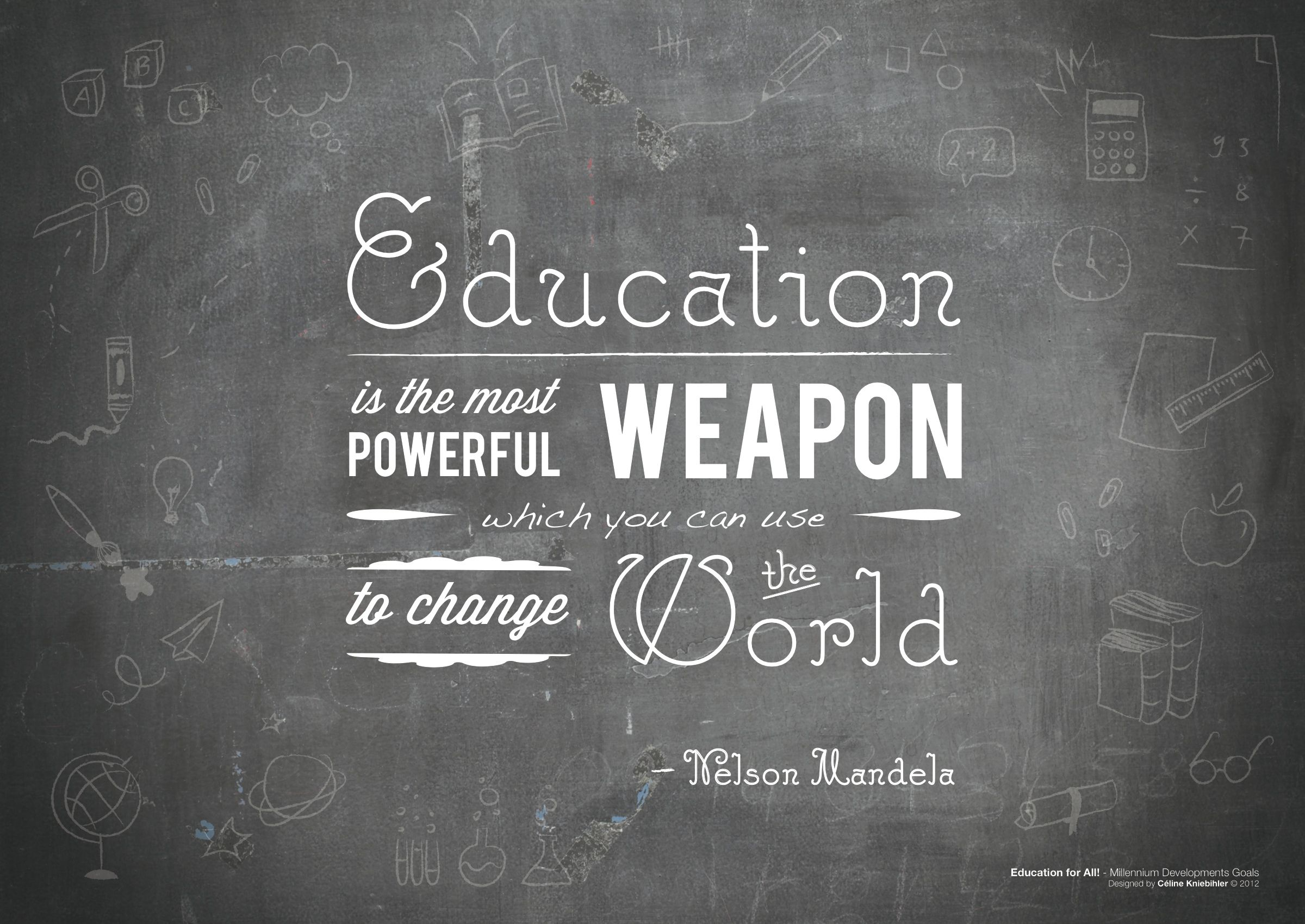 Education is the most powerful weapon which you can use to change ...