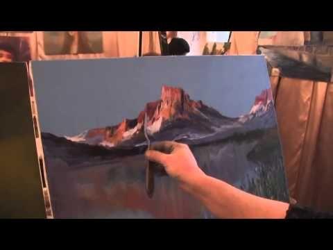 И.Сахаров.Как научиться рисовать горы,свет. Живопись для начинающих, уроки рисования - YouTube