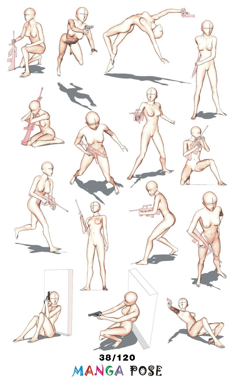 Tutorial Drawing Manga Pose Big Posebook For Manga Anime Character