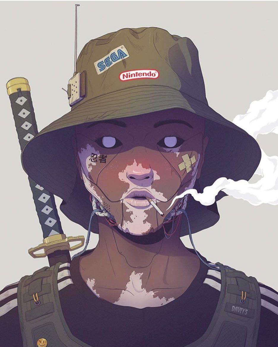 I Still Remember Carefree Times Davey Perkins In 2020 Cartoon Art Character Art Cyberpunk Art