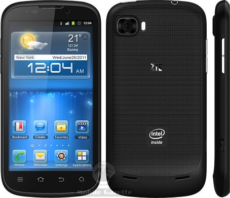 ZTE Grand X IN - Clumsily named Intel-based Android smartphone.