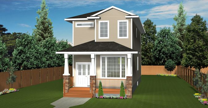 3 Bedroom Design Adorable Plan 2014793 2 Storey Narrow Lot House Plan Has Great Curb Appeal Decorating Design
