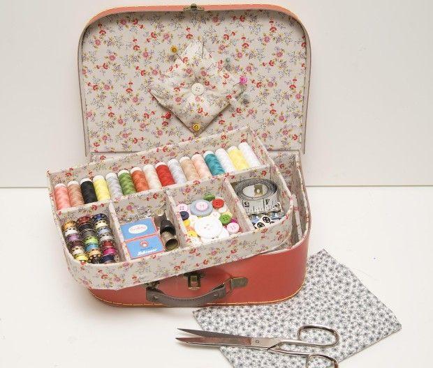 Como hacer un costurero con una caja de cart n por - Como hacer una caja ...