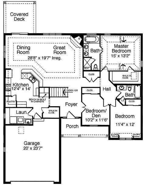 Plan 39059st Captivating Single Level House Plans One Story Traditional House Plans Dream House Plans