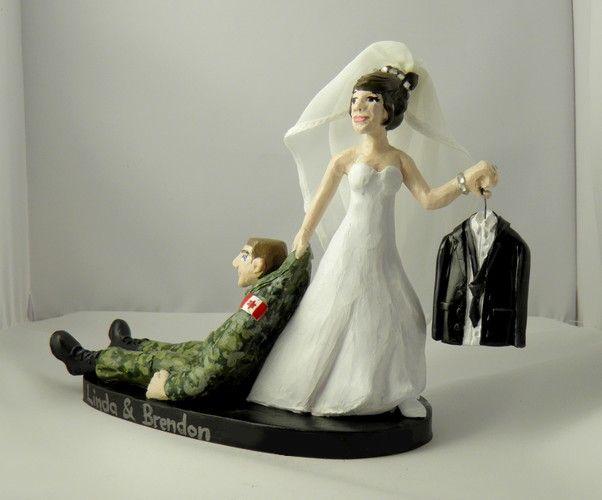 Custom Wedding Cake Toppers Camouflage Tuxedo Canadian Military