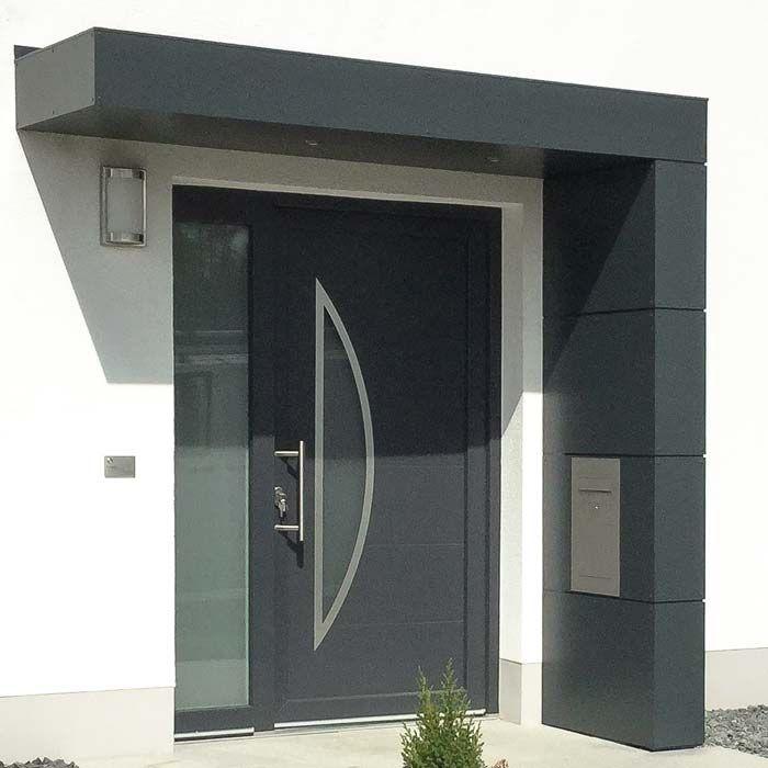 eingangs berdachung mit briefkasten eingangs berdachung doors house entrance und modern. Black Bedroom Furniture Sets. Home Design Ideas