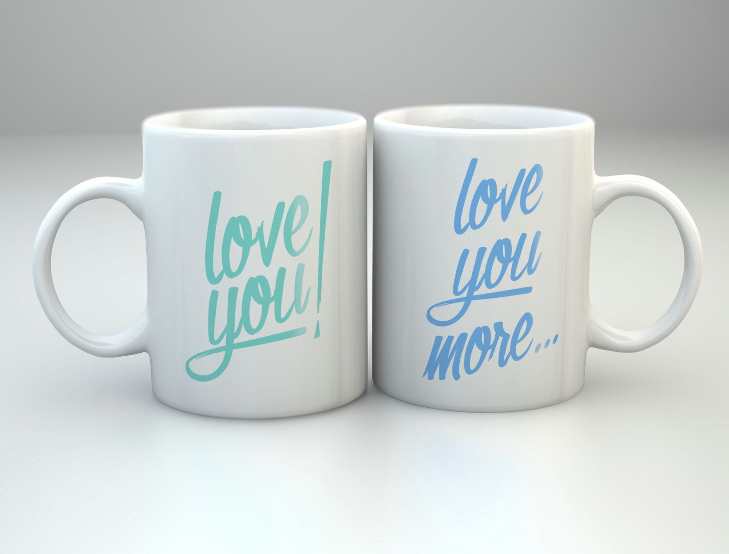 Love you love you more ceramic mug coffee lover gift for him