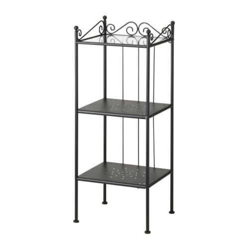 This is for bathrooms  but I feel like something like this would be good  for kitchen storage  Then we could add shelves above on the wall if we  wanted. R NNSK R Shelf unit  black   Paint for bathroom  Bedside table
