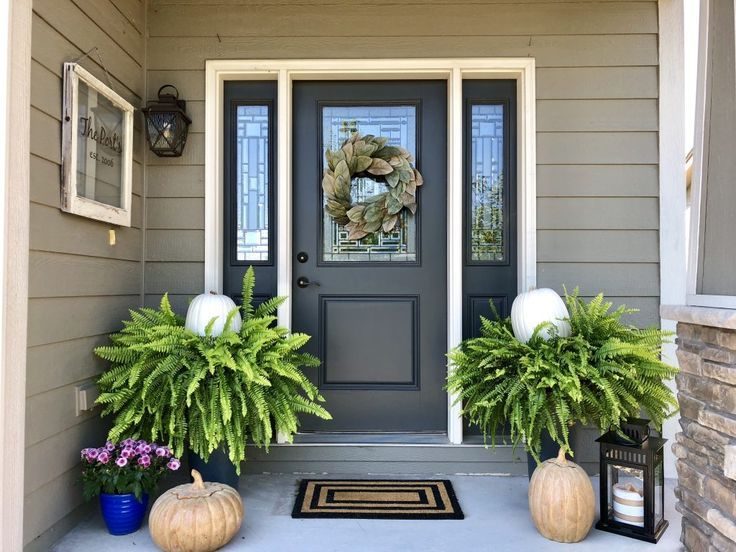 Fresh Fall Front Porch Decor #falldecorideasfortheporchoutdoorspaces