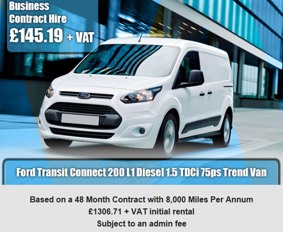 Ford Transit Connect 200 L1 Diesel 1 5 Tdci 75ps Trend Van Ford