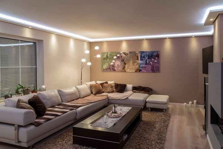 Wohnideen Wohnzimmer Licht stuckleisten lichtprofil für indirekte led beleuchtung wand und