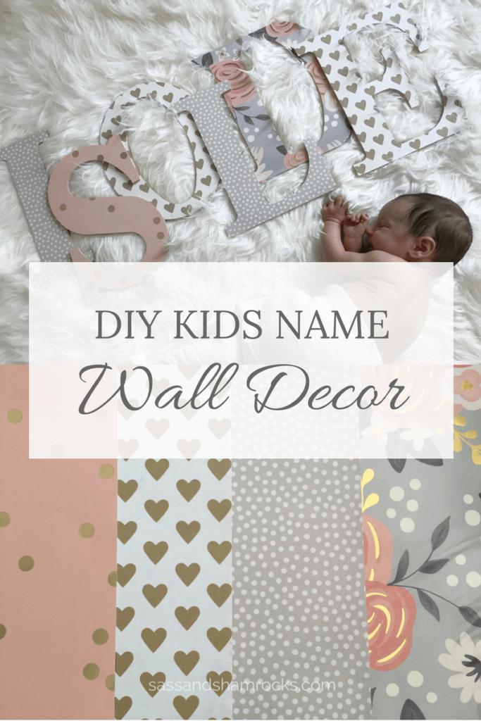 Diy Wood Letter Kids Name Decor Diy Nursery Decor Name Wall Decor Nursery Name Decor