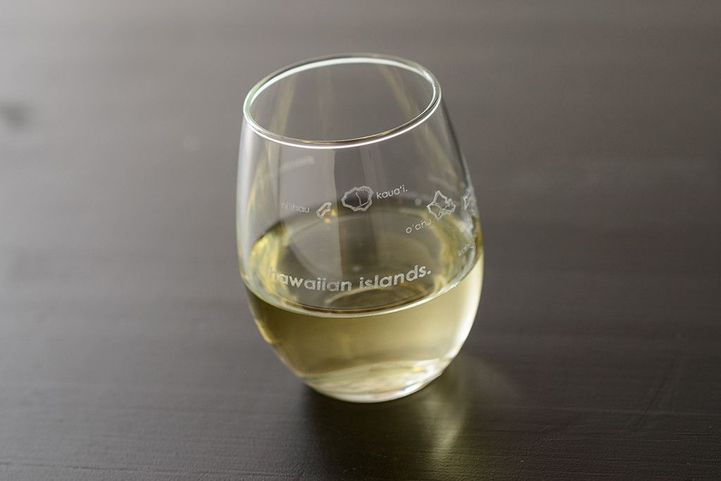 Hawaiian Islands Stemless Wine Glass #cubaisland