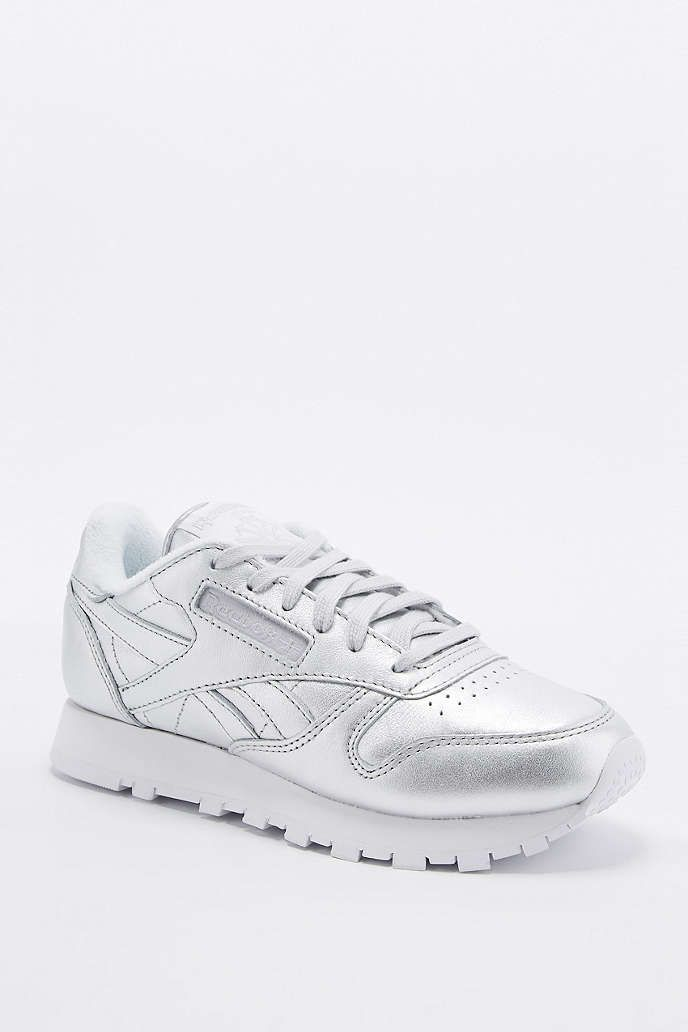 65215db58b4 Reebok Classic Silver Trainers - Urban Outfitters