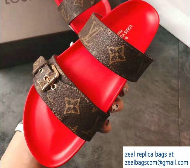 a02a52800a2 Louis Vuitton Bom Dia Mules Sandals 1A29GQ Rouge 2017 | Luxury Shoes ...