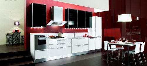 Wonderful Modern Red Black And White Kitchen Ideas