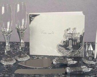 Silver castle bridal accessory collection