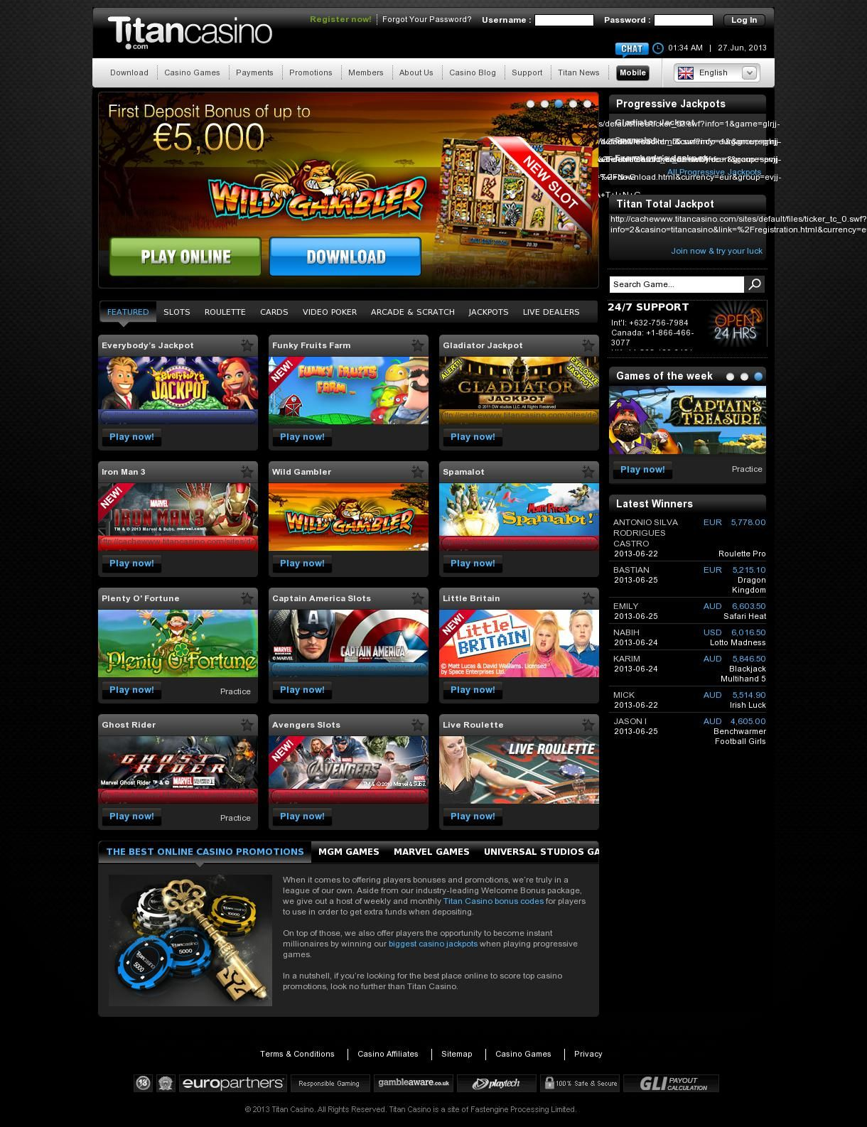 Titan Casino Games