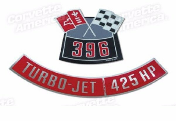 Chevrolet 454 Turbo Jet 425 HP Silver Air Cleaner Decal