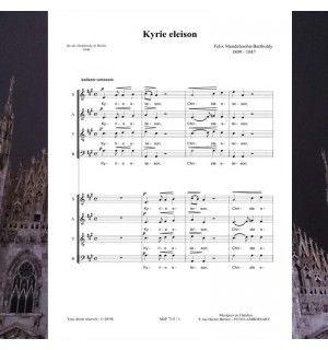 Félix MENDELSSOHN : Kyrie Eleison - Musique publiée aux éditions Musiques en Flandres pour choeur à 8 voix mixtes (double choeur SATB / SATB).  Référence MeF 715