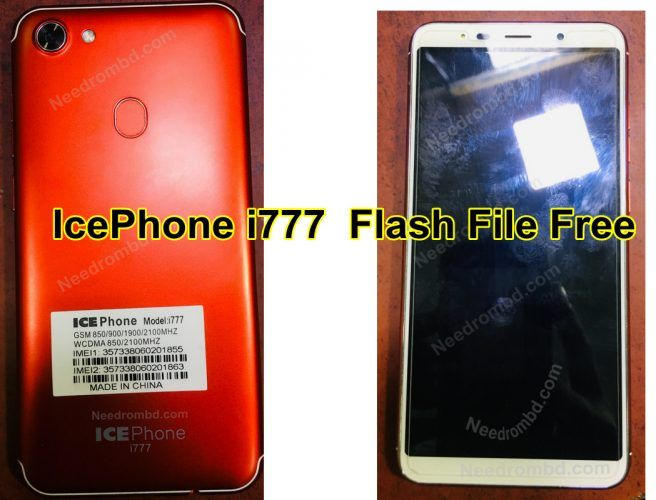 IcePhone i777 MT6580 Flash File Without Password | Smartphone