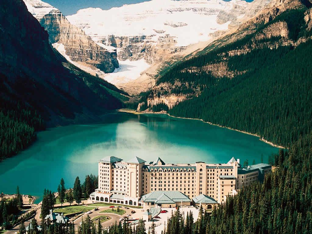 Chateau Lake Louise in the Canadian Rockies