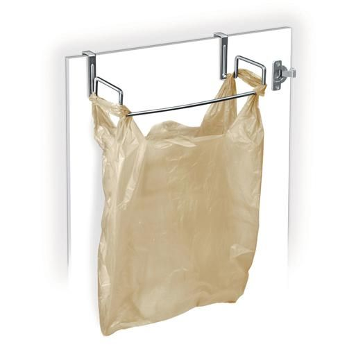 I like this too! Compact, great for daily recycling or regular trash and hidden. Also great way to use all those plastic bags from stores as a reuse/recycle/repurpose. Seriously want this!   Lynk 601500DS Over Cabinet Door Organizer, Bag Holder, Chrome