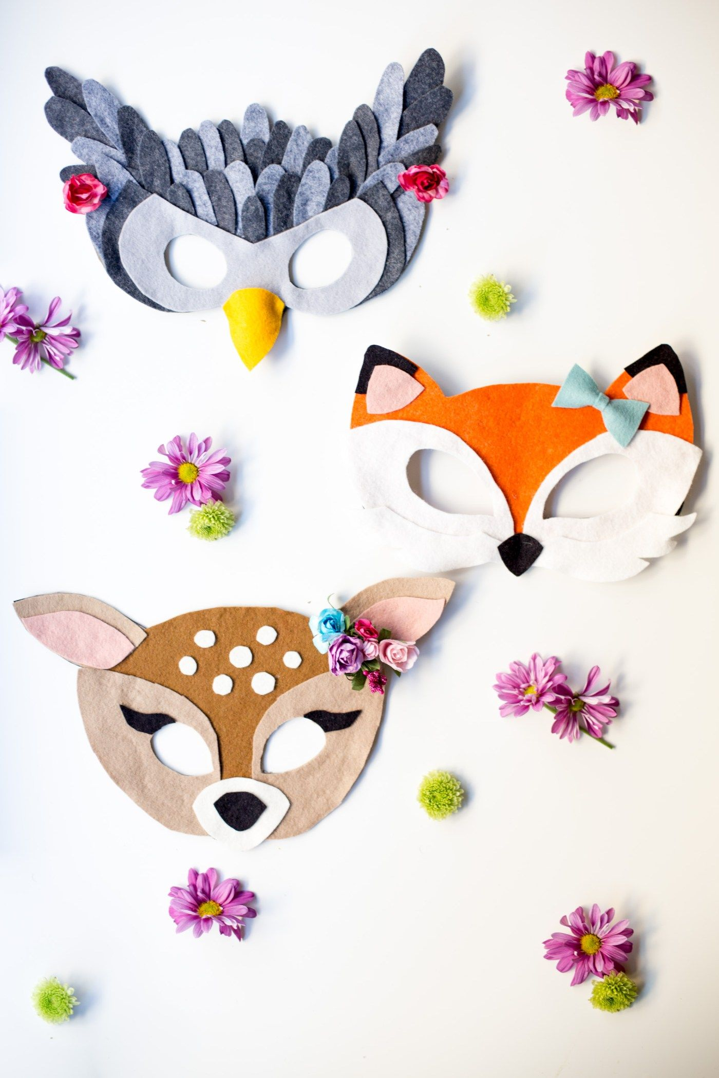 No Sew Free Felt Animal Mask Patterns Pinterest