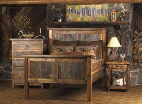Pallet Bedroom Set | Bedroom Furniture Made From Pallets Pallet Headboard Rustic Bed