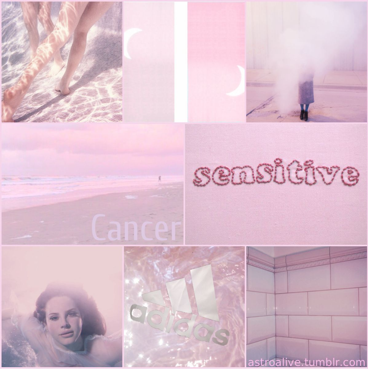 Pink Astrology Aesthetic: Cancer #astrologyaesthetic