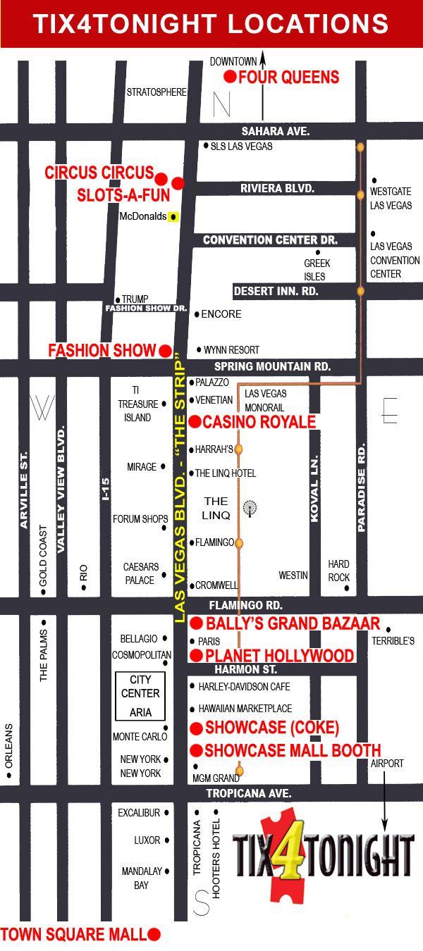 Circus Map Las Vegas on