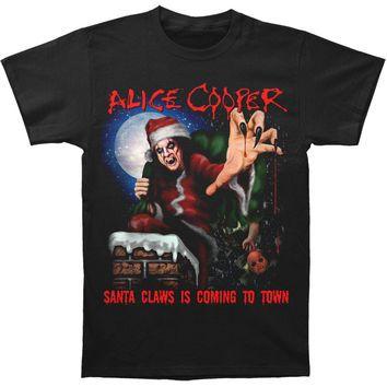 Alice Cooper Men S Santa Claws Christmas 2015 T Shirt Black Rockabilia Christmas Sweater Men Santa Claws T Shirt