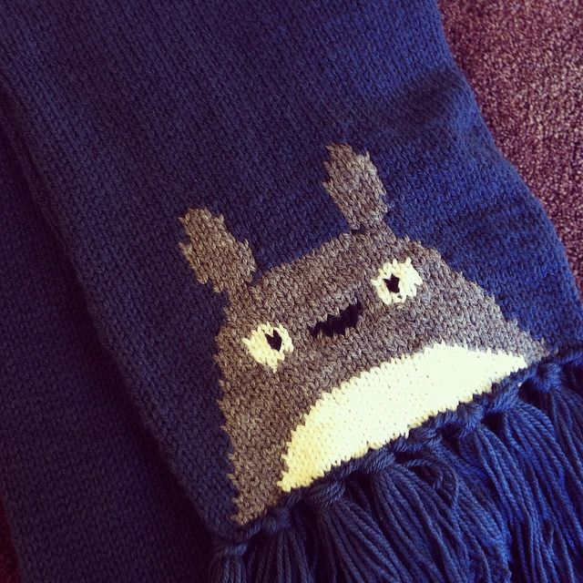Totoro Scarf Totoro Pattern Library And Ravelry