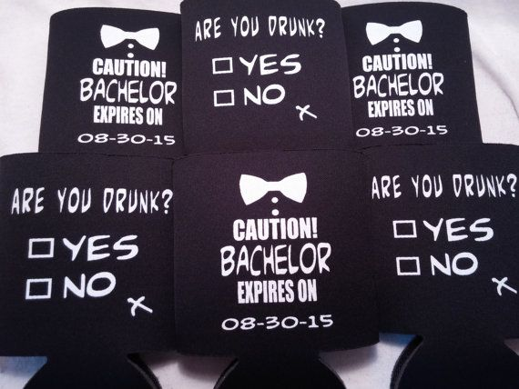 Funny Bachelor Party Koozies Design are by odysseycustomdesigns ...