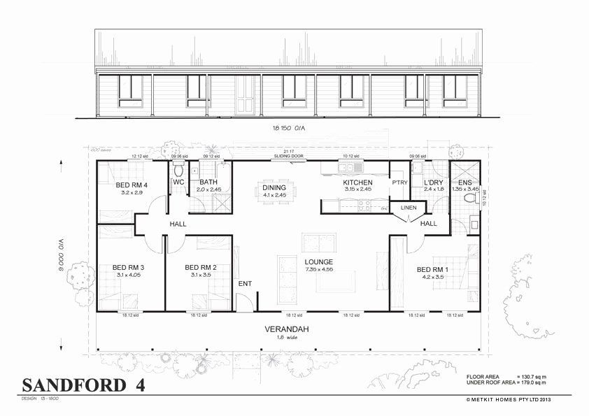 Simple 4 Bedroom House Plans Inspirational Simple 4 Bedroom Floor Plans In 2020 House Plans Australia Metal House Plans New House Plans